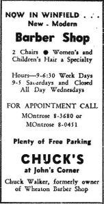 chucks barber shop ad